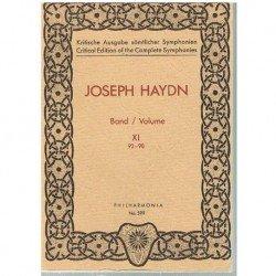 Haydn, Joseph. Sinfonías Vol.11 (93-98) (Partitura de Bolsillo)