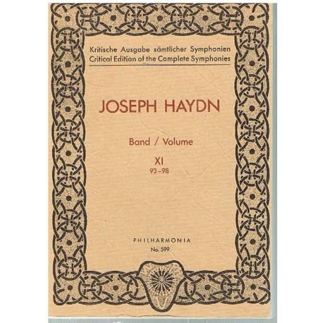 Haydn, Joseph. Sinfonías Vol.11 (93-98) (Full Score Bolsillo). Philarmonia
