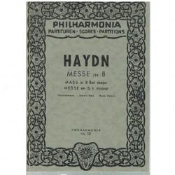 Haydn, Josep Misa en Sib Mayor (Partitura de Bolsillo)