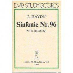 """Haydn, Joseph. Sinfonía Nº96 """"El Milagro"""" (Full Score Bolsillo)"""