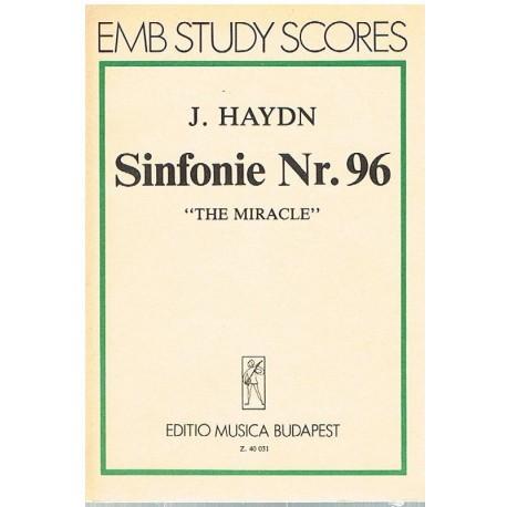 """Haydn, Joseph. Sinfonía Nº96 """"El Milagro"""" (Full Score Bolsillo). Editio Musica Budapest"""