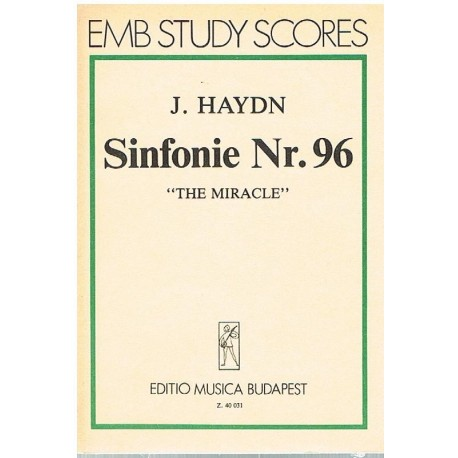 """Haydn, Joseph. Sinfonía Nº96 """"El Milagro"""" (Partitura de Bolsillo)"""