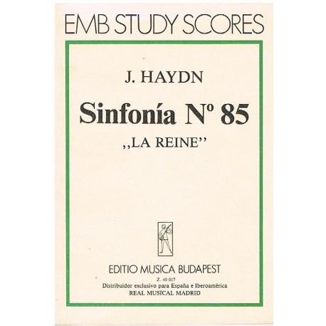 "Haydn, Josep Sinfonía Nº85 La Reine (Partitura de Bolsillo)"""""
