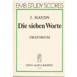 Haydn, Josep Las Siete Palabras (Oratorio) (Partitura de Bolsillo)