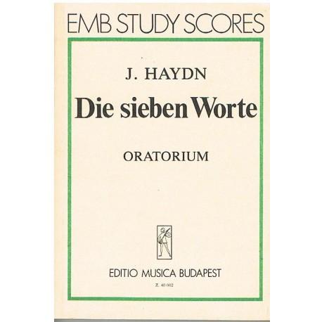 Haydn, Joseph. Las Siete Palabras. Oratorio. (Partitura de Bolsillo)