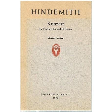 Hindemith. Concierto Para Violoncello y Orquesta (Partitura de Bolsillo)