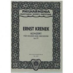 Krenek, Erns Concierto para Violin y Orquesta Op.29 (Partitura de Bolsillo)