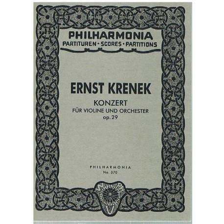 Krenek, Ernst. Concierto para Violin y Orquesta Op.29 (Full Score Bolsillo). Philarmonia