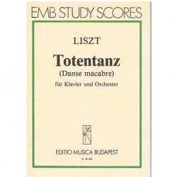 Liszt Totentanz (Danza Macabra) (Partitura de Bolsillo)
