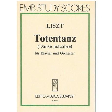 Liszt. Totentanz. Danza Macabra (Full Score Bolsillo). Editio Musica Budapest