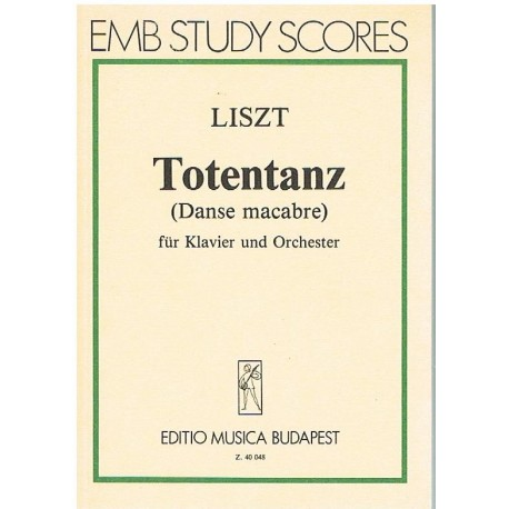 Liszt. Totentanz (Danza Macabra) (Partitura de Bolsillo)