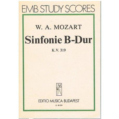 Mozart. Sinfonía en SIb Mayor KV.319 (Full Score Bolsillo). Editio Musica Budapest