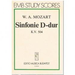 Sinfonía Re Mayor KV.504 (Partitura de Bolsillo)