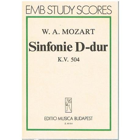Mozart. Sinfonía en RE Mayor KV.504 (Partitura de Bolsillo)