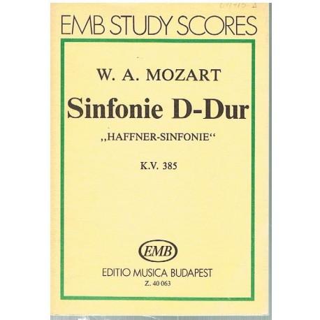 """Mozart. Sinfonía en Re Mayor KV.385 """"Haffner"""" (Full Score Bolsillo). Editio Musica Budapest"""