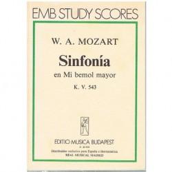 Mozart. Sinfonía Mib Mayor KV.543(Partitura de Bolsillo)