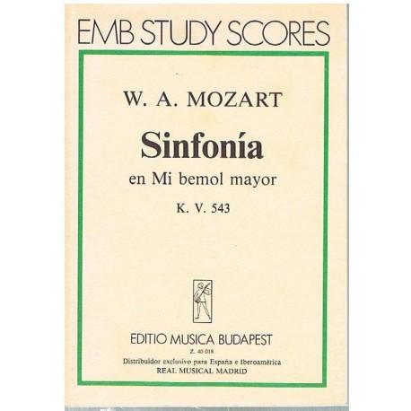 Mozart. Sinfonía en MIb Mayor KV.543 (Full Score Bolsillo). Editio Musica Budapest