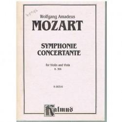 Mozart. Sinfonía Concertante K.364 (Violin y Viola) (Partitura de Bolsillo)