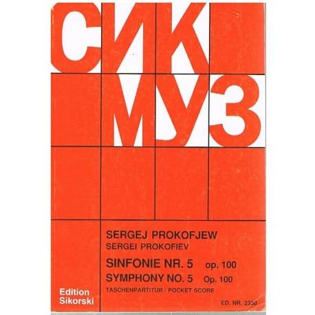 Prokofieff, Sergei. Sinfonía Nº5 Op.100 (Partitura de Bolsillo)