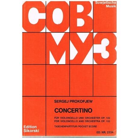 Prokofieff, Sergei. Concertino Op.132 (Violoncello y Orquesta) (Full Score Bolsillo). Sikorski
