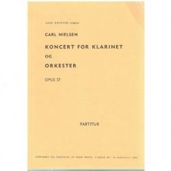 Nielsen, Carl. Concierto para Clarinete y Orquesta Op.57 (Partitura de Bolsillo)