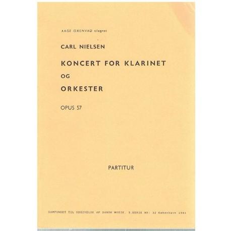 Nielsen, Carl. Concierto para Clarinete y Orquesta Op.57 (Full Score Bolsillo). Samfundet