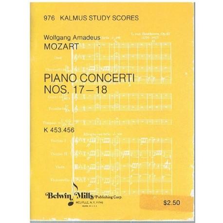 Mozart. Conciertos Nº17 y 18 para Piano y Orquesta (Partitura de Bolsillo)