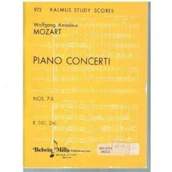 Mozart. Conciertos Nº 7 y 8 para Piano y Orquesta(Partitura de Bolsillo)