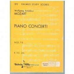 Mozart. Conciertos Nº 7 y 8...