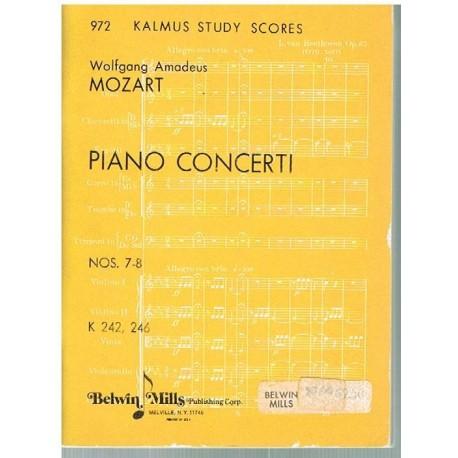 Mozart. Conciertos Nº 7 y 8 para Piano y Orquesta(Full Score Bolsillo). Belwin Mills