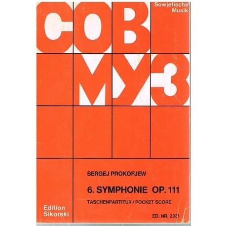 Prokofieff, Sergei. Sinfonía Nº6 Op.111 (Full Score Bolsillo). Sikorski