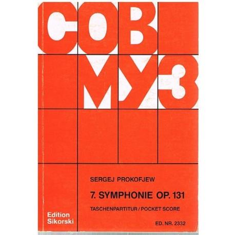Prokofieff, Sergei. Sinfonía Nº7 Op.131 (Full Score Bolsillo). Sikorski