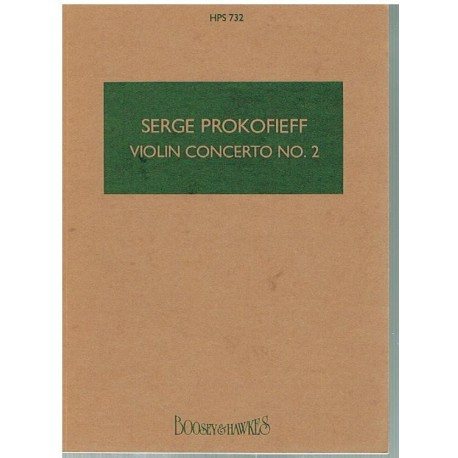 Prokofieff, Sergei. Concierto de Violin Nº2 (Partitura de Bolsillo)