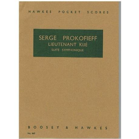Prokofieff, Sergei. Lieutenant Kije. Suite Sinfónica (Full Score Bolsillo). Boosey&Hawkes