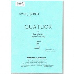 Schmitt, Florent. Quatuor...