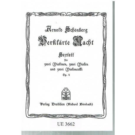 Schonberg, Arnold. Sexteto Op.4 (2 Violines, 2 Violas y 2 Cellos)  (Full Score Bolsillo). Universal Edition