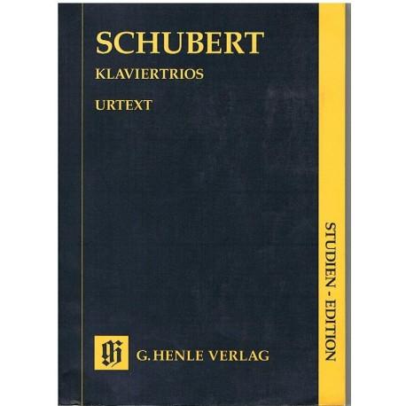 Schubert, Fr Trios con Piano (Partitura de Bolsillo)