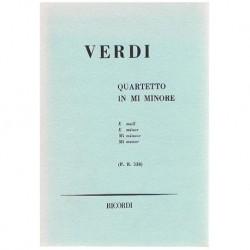 Verdi, Giuseppe. Cuarteto en Mi menor P.R.538 (Partitura de Bolsillo)