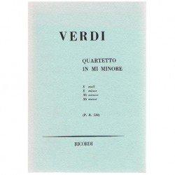 Verdi, Giuseppe. Cuarteto...