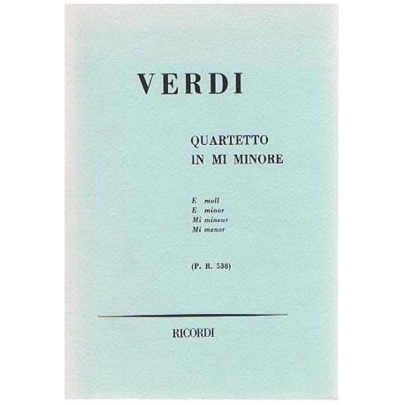Verdi, Giuseppe. Cuarteto en Mi menor P.R.538 (Full Score Bolsillo). Ricordi