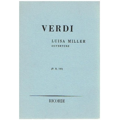 Verdi, Giuseppe. Luisa Miller. Obertura P.R.737 (Full Score Bolsillo). Ricordi