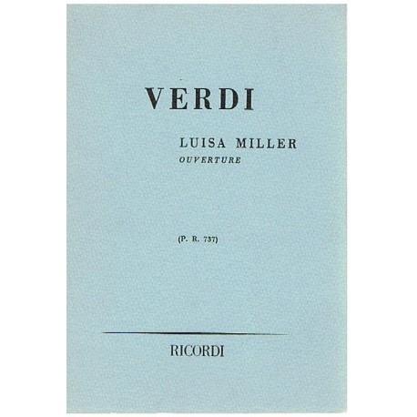 Verdi Luisa Miller. Obertura P.R.737 (Partitura de Bolsillo)