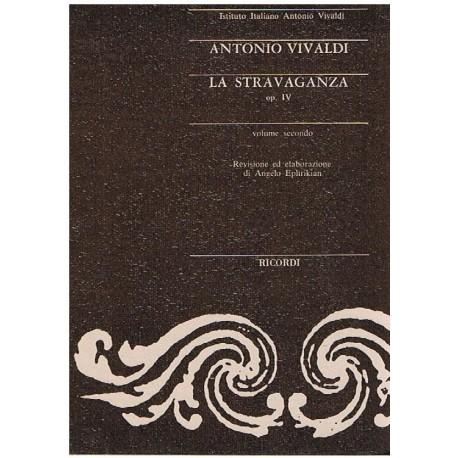 Vivaldi, Antonio. La Stravaganza Op.4 Vol.2 (Partitura de Bolsillo)