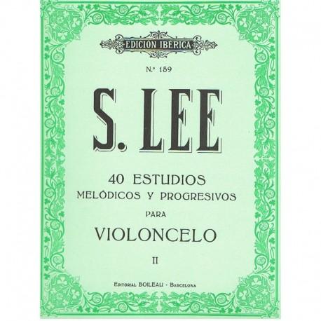 Lee, Sebastian. 40 Estudios Melódicos y Progresivos Vol.2