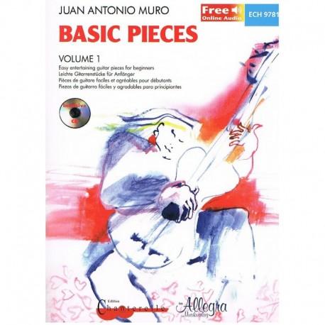 Muro, J.A.. Basic Pieces Vol.1 +CD (Guitarra). Chanterelle