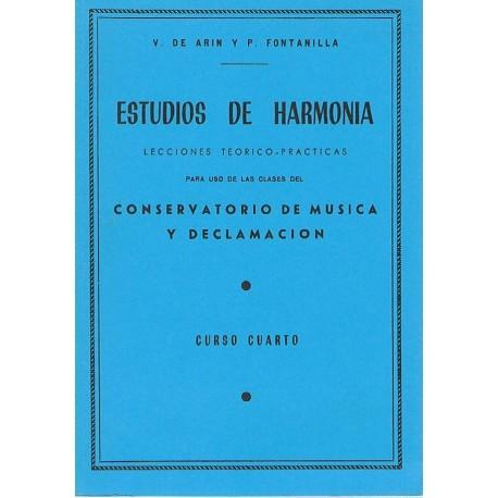 Arin/Fontanilla. Estudios de Armonía. Lecciones Teórico-Prácticas. Curso 4º