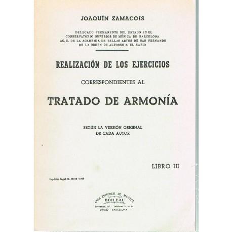 Zamacois. Tratado de Armonía III. Realización de los Ejercicios.
