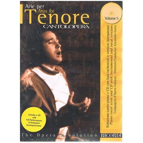 Varios. Cantolopera. . Arie Per Tenore Vol.5 +CD Acomp. Orquestal. Ricordi