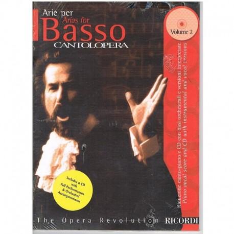 Varios. Cantolopera. Arie Per Basso Vol.2 +CD Acomp. Orquestal. Ricordi