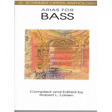 Varios. Arias For Bass. (Voz Bajo/Piano). Schirmer